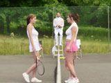 Jugaban a tenis y se acaban follando al arbitro !! - Trios