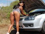 A Yoha Gálvez el coche la ha dejado tirada - Porno Español