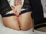 Tremendo los labios vaginales que tiene la abuela inglesa - Masturbaciones