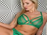 Rubia milf de ojos verdes y su lenceria verde umm … - Fotos Porno