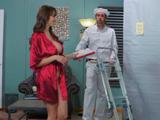 El repartidor alucina con las tetas que tiene la señora - Sexo Fuerte