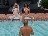 Mi hermana y su amiga parecen estar muy cachondas ... - Interracial